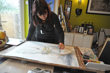 Mandi Baykaa-Murray, Artist, painting