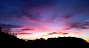 Sunrise driving to Wickham. Mandi Baykaa-Murray