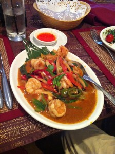 My delicious Thai Tiger Prawns