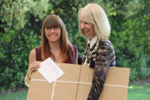Presentation of St Cuthbert's Mill Award by Pollyanna Pickering