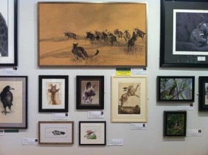 'Feathered Friend' in place at The Mall Galleries