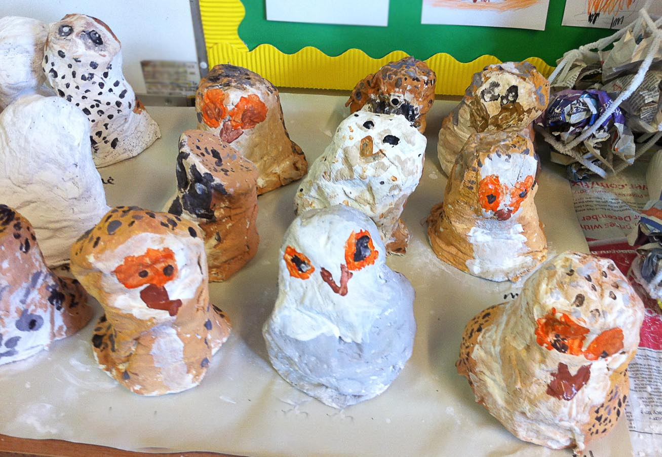 Fun With Owls and Art in the Classroom!