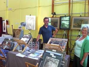 Vic's stand in the Art Market