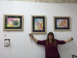 Me with some of my colourful watercolours