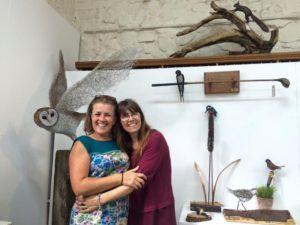 Hayley & Mandi with Hayley's Sculptures
