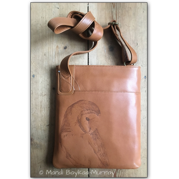 Pyrographed Leather Bag