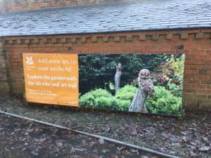 Billboard for 'OH WISE OWL' Exhibition at Beningbrough Hall
