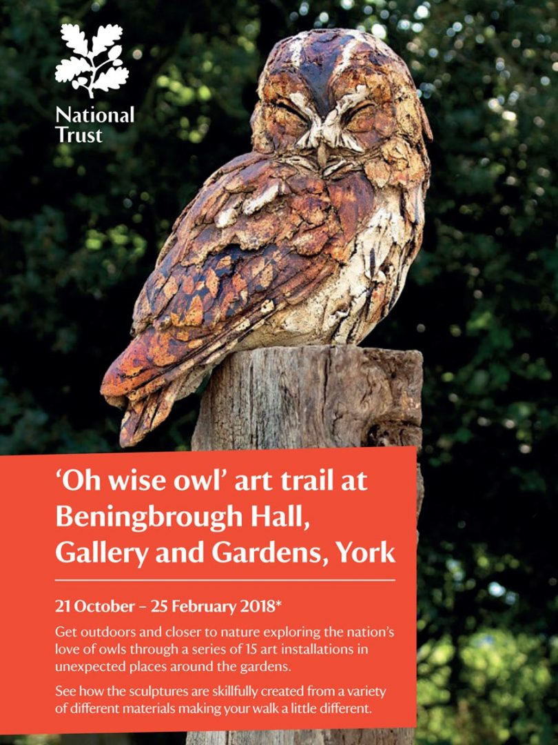 'Oh Wise Owl' Art Trail, Beningbrough Hall, National Trust.