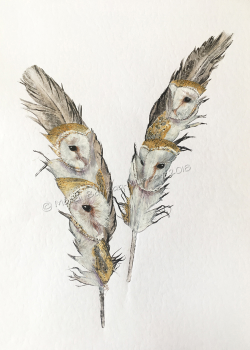 'Quartet' 4 Barn Owls - submission piece for EWA 2018