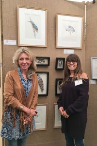 Mandy Shepherd with me and my paintings at TWASI 2018